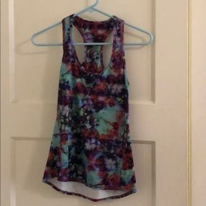 athleta water color workout tank